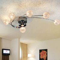alluminum wire - Alluminum Wire Ball Contemporary Chandelier For Living Room Office L75 W45cm LED Version Ceiling Lamp