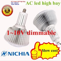 Wholesale DHL V dimmable W led high bay light with Nichia SMD3030A year warranty AC200 V
