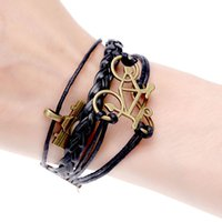Wholesale charm men bracelet braided bicycle camera bracelets amp bangles leather bracelet for women pulseira bijoux black brown