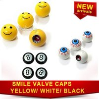Wholesale 4pcs set Motorcycle Round Valve Cap Truck Tyre Ball Caps Air Wheel Covers Stem ABS Car Cover Tire cap For Yellow white black