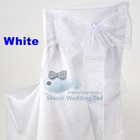 Wholesale White Color Organza Chair Sash Chair Bow For Wedding Chair Cover