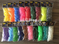 Wholesale 25colors candy Loom Refill Rubber Bands Kit silicone colorful rubber bands for bracelets