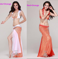 Fishnet belly dancing bra tops - Sexy dance dress staage High end Professional Belly Dance dancing wear Costume Bra TOPS Skirt For Performance Colors factory price