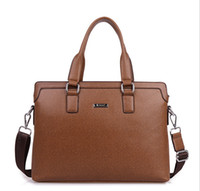 Wholesale mens briefcase mens leather bag man bag business dress genuine leather briefcase brand name handbags brown computer bags for man