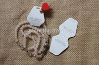 Wholesale custom jewelry packing display customized paper necklace hanging tag brand name logo printed necklace card