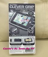 Wholesale 30pcs Bell Howell Clever Grip MAX Portable Phone Mount for most Smartphones Car Holder