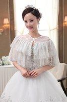 Cheap 2015 Hot Sale Wedding Bridal Wrap Best Lace Bridal Wrap