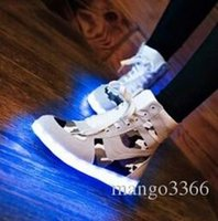 Cheap New character luminous shoes men's and women's tide help colorful light camouflage LED lights leisure shoes sneakers