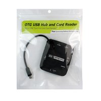 Cheap OTG 3-Port USB Hub SD(HC) MS TF M2 Card Reader for Samsung Galaxy S3 S4 Note2 (BL-3228)