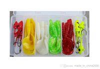 beach worms - 2015 Hot SaleSea Lead Head Hook Bait Lure Soft Bait Worm Head Sequins Ocean Beach Fishing Lures Kit