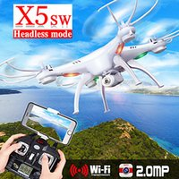 Wholesale Professional Original drones syma x5sw drone with camera video drone quadcopter camera flying HD WIFI FPV Real Time Photo CH Helicopter