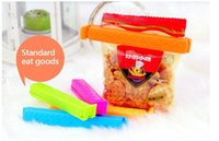 Wholesale Novelty Households Kitchen Storage Food Bag Clips Clips Package Sealing Clip Food Clamps Plastic Bags