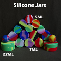 Wholesale Fedex Free Nonsolid Color ML ML ML Wax Dry Herb Jars Dab Round Shape Silicone Container for Dry Herb Atomizer Oil Wax E Cigarette