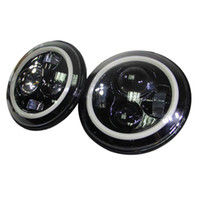 Wholesale 7inch w Round Cree H4 LED Headlight for Jeep Wrangler Front Driving Headlamp Car Styling Head Light for Jeep
