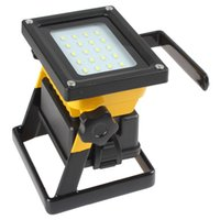 adapter camping - SMD LEDs LM Mode Waterproof Rechargeable Floodlight Camping Lamp with Handle AC Adapter