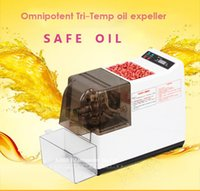 Wholesale Hot sale electric edible Oil Pressers oil press machine family press automatic stainless steel hot and cold press machine