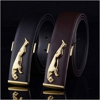 Wholesale Brand New High grade leather men s jaguar belt British fashion new men tablet leather buckle leisure belt