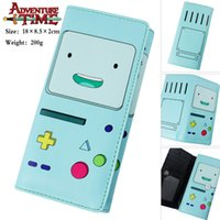 adventure red - Anime Cosplay Adventure Time with Finn and Jake Cartoon Character Long Section High Quality PU Wallet Anime Clutch Bag