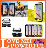 Cheap LOVE MEI POWERFUL Defender Cover for Samsung Galaxy S6 Edge S5 S4 Note 4 3 Waterproof Full Metal Case Skin for Iphone 6 Plus 4.7 5.5 5S 5 4