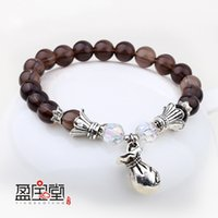 Cheap Natural tea crystal [ citrine ] Korean purse jewelry bead bracelet transit yiren DHL free shipping