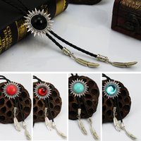 Wholesale new style sunflower pink gem summer shirt accessories bolo tie Poirot tie men rope tie novelty neck tie