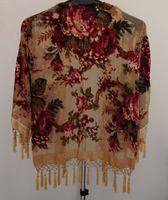 Cheap Free Shipping roses Velvet jacket-nude