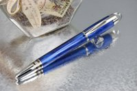 art waves - MB Starwalker High Quality Best Design The Blue Wave of The Ocean Carved Roller Ball Pen
