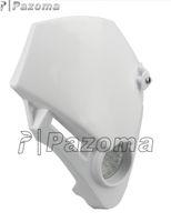 motorcycle headlamp - PAZOMA Dirt bike Motorcycle headlight Universal Vision LED Head light Racing motorcycle headlamp