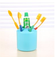 Wholesale Toothbrush holder Racks stylish contrast color creative multifunctional classification of Candy colored plastic toothbrush holder