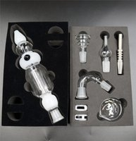 black gift boxes - Colorful Nectar Collector Kit mm Joint In Black Clear White Colors Full Kit with Accessories Titanium Nails For Wax Dry Herb