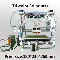 Wholesale Triple extruder He3D triclor d printer reprap mendel multicolor tricolor kit diy open source printer d colors