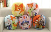 Wholesale Zootopia Plush Toy toys PP Cotton Pillow Hold pillow soft Judy Hopps Nick Wilde styles cm gift Bedding Supplies