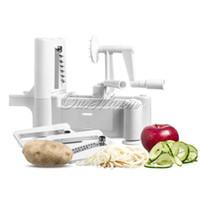 Wholesale 2015 Hot Spiral Vegetable Slicer Spiralizer Vegetable Fruit Chopper Cutter Kitchen Tool CM