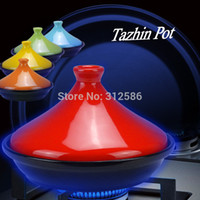 Wholesale HOT SELL IN RUSSIA EUROPE CM SMALL SIZE CERAMIC NON STICK TAZHIN POT SOUP CASSEROLE COOKING TOOL FIRE DIRECT BARBECUE USE