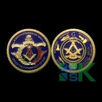 Wholesale 2015 Masonic Tools BLUE GOLD Meanings Auto Emblem Freemason