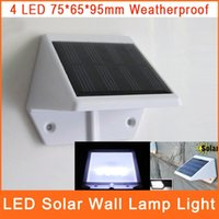 Wholesale Solar Powered Lights LED For Outdoor Lighting Garden Decorative Landscape Wall Mounted Fence Yard Lamp Stair OSL001