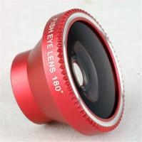 Wholesale Fish eye amovible magnétique grau Fisheye pour iPhone S c S Samsung S4 S5 Note2 mobile lentille de téléphone