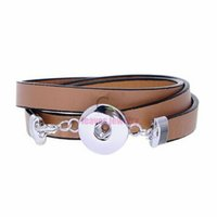 best fashion boutique - Fashion boutique jewelry Chocolate Snap Leather Wrap Bracelet for snap button charms bracelet Leather Wrap Bracelet do the best of yourself