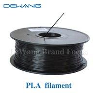 Wholesale DeWang R Black D Printer mm Black PLA Plastic Filaments extruder kg Roll for d printing Pen Consumables order lt no tr