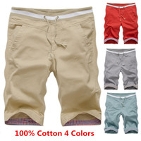 Cotton 100% cotton plus size - 2015 New Arrival Summer Mens Casual Shorts Male Slim Beach Shorts High Quality Cotton Shorts Plus Size XL Shorts Men colors