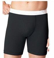 authentic clothes wholesale - 100 cotton Authentic soft breathable waistline plain pure boxers new men s undewear men clothing
