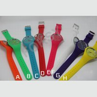 Wholesale New WATCH Geneva Watch Japanese MCE Silicone Ice Cream Dandy Fresh Colors Lady Watch