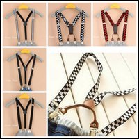 Wholesale 2015 kids clip on Adjustable Braces clips and clips Y back elastic suspenders brace patterns kids accessories J061807 DHL FREESHIP