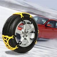 Wholesale 3 Pieces Car Tire Skid Chain Snow Thickened Beef Tendon Slip TPU Vehicles String For Universal Car Tire mm mm