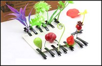 Wholesale 2015 fashion plant hairpins grass hairpin bean sprouts mushroom cherry strawberry hair clips girls hearwear kids gift J090801