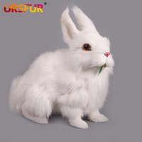 Wholesale Genuine Super lovely large white eye rabbit simulation animal plush toy rabbit doll ornaments squatting