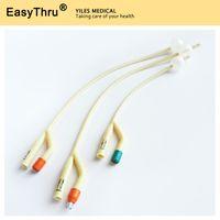 Wholesale Latex Foley Catheter Urethra catheter with silicone coated Way Fr12 Fr14 Fr16 Fr18 Fr20 Fr22 Fr24 Fr26