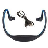 Wholesale Ship from USA S9 Bluetooth Earphone Wrap Around Wireless Headset Sport MP3 Music player wireless Earphone Headphones Player FM Radio