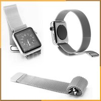 Wholesale Fully magnetic Milanese Loop strap Link Bracelet Stainless Steel band infinitely adjustable for apple watch mm mm Watchband