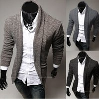 Wholesale 2014 new fashion slim men s Sweaters Cardigan Casual men s clothing Lapel mens s Sweatshirts coffee